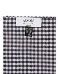 Armani - Green Chevron And Gingham Check Pocket Square for Men - Lyst