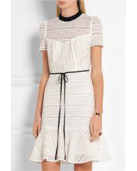 Erdem - Multicolor - Anne Cotton-blend Lace Dress - Ecru - Lyst
