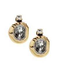 Banana Republic | Metallic Multi-stone Sparkle Stud Earring | Lyst