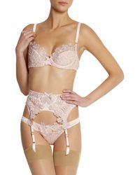Agent Provocateur | Pink Soirée Ilona Crystal-embellished Silk-blend Satin Briefs | Lyst