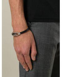 Ferragamo | Black Gancini Bracelet for Men | Lyst