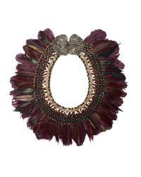 Lizzie Fortunato | Purple Birds Of Paradise Necklace | Lyst