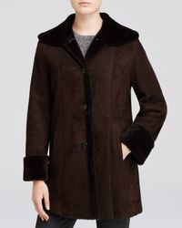 Maximilian | Brown Wing Collar Lamb Shearling Jacket | Lyst