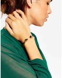 ASOS | Metallic Squares Open Cuff Bracelet | Lyst