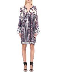 Étoile Isabel Marant - Blue Tresha Abstract-print Chiffon Dress - Lyst