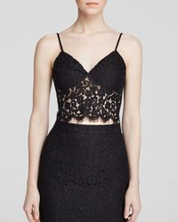Bardot | Black Lace Crop Top | Lyst