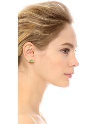 Kate Spade | Lawn Party Snail Stud Earrings - Green Multi | Lyst