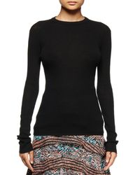 Proenza Schouler - Black Long-sleeve Open-back Sweater - Lyst