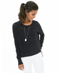Banana Republic | Black Lace-stitch Pullover | Lyst