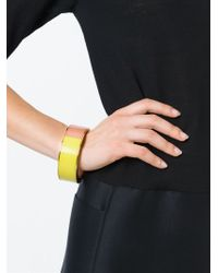 Erika Cavallini Semi Couture | Yellow Colour Block Bracelet | Lyst