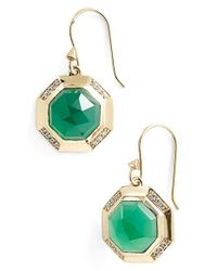 Melinda Maria | Green 'camilla' Drop Earrings | Lyst