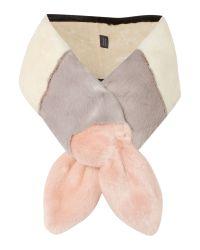 Helen Moore | Pink Multi Vixen Long Faux Fur Scarf | Lyst