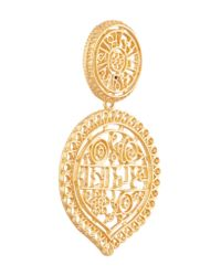 Kenneth Jay Lane - Metallic Gold-plated Filigree Clip Earrings - Lyst