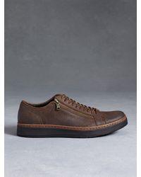 John Varvatos - Brown Barrett Creeper Low Top Sneaker for Men - Lyst