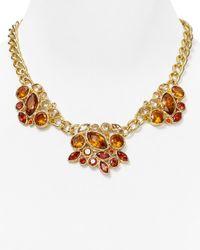 "T Tahari - Metallic Navette Cluster Necklace, 15"" - Lyst"