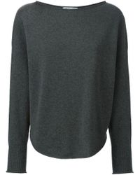 Helmut Lang - Gray Short Sleeve Sweater - Lyst