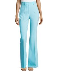 Michael Kors - Blue Flared Wool-blend Trousers - Lyst