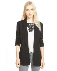 Chelsea28 Nordstrom - Black Open Shawl Collar Jacket - Lyst