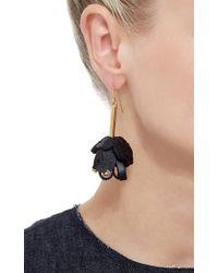 Marni - Metallic Flower Leather Earrings - Lyst