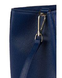 BOSS - Blue Leather Handbag: 'maila-f' - Lyst