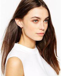 Stella & Bow - Metallic Sophia Ball Hoop Earrings - Lyst
