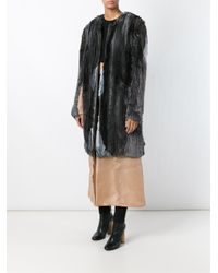 Ter Et Bantine - Black Pleated Fringed Coat - Lyst