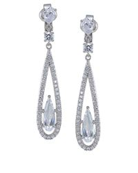 Carolee - Metallic The Diana Crystal Linear Drop Earrings - Lyst