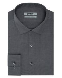 DKNY - Gray Slim Fit Dress Shirt - Lyst