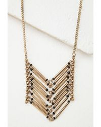 Forever 21 | Metallic Stacked Bar Pendant Necklace | Lyst