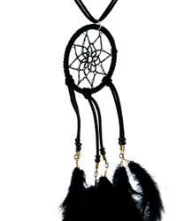 ASOS - Black Dreamcatcher Feather Necklace - Lyst