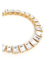 Kenneth Jay Lane | Metallic Baguette Cut Crystal Necklace | Lyst