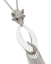 Alexis Bittar - Metallic Large Wolf Pendant Necklace - Lyst