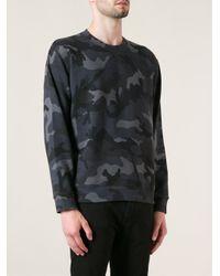 Valentino - Gray Camouflage Print Sweatshirt for Men - Lyst