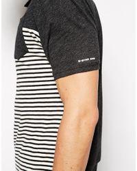 G-Star RAW - Black G Star Polo Django Stripe Front 1 Pocket for Men - Lyst