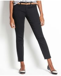 Ann Taylor - Gray Petite Curvy Zip Ankle Jeans - Lyst