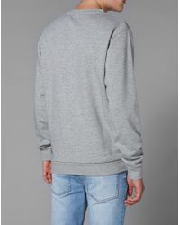 Cheap Monday - Gray Sweatshirt With Over My Dead Body Print for Men - Lyst