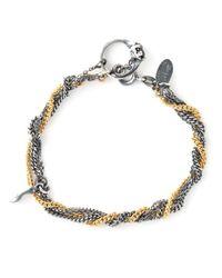 Puro Iosselliani   Metallic Sapphire Ring Tangled Bracelet   Lyst