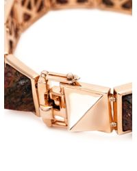 Eddie Borgo | Pink Gemstone Pyramid Bracelet | Lyst