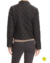 Banana Republic | Black Factory Quilted Jacket | Lyst