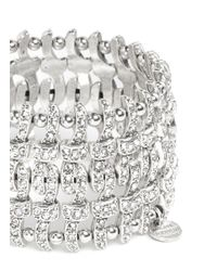 Philippe Audibert - Metallic Double Concord Weave Swarovski Crystal Bracelet - Lyst