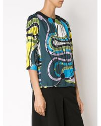 Peter Pilotto - Blue 'cube' Top - Lyst
