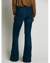 Free People - Blue Isabel Panel Flare - Lyst