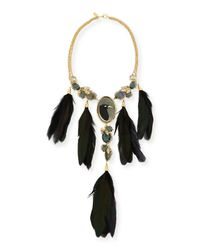 Alexis Bittar | Black Elements Large Raven Feather Necklace | Lyst