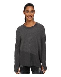 Alo Yoga - Gray Lean To Long Sleeve Top - Lyst