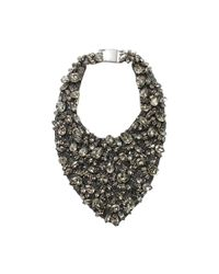 Brunello Cucinelli | Multicolor Swarovski Bib Necklace | Lyst