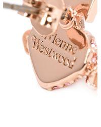 Vivienne Westwood | Pink 'oona Bas Relief' Stud Earrings | Lyst