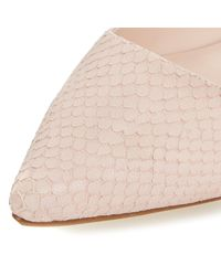 Dune - Pink Amarie Pointy Reptile Pumps - Lyst