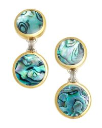 Gurhan | Metallic Paua Shell And Gold Drop Earrings | Lyst
