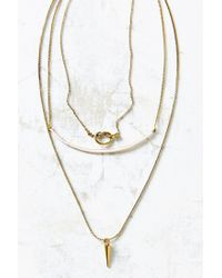Urban Outfitters | Pink Kia Knotted Layering Necklace | Lyst