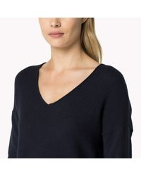 Tommy Hilfiger - Blue Wool Cotton Blend Sweater - Lyst